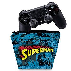 Capa PS4 Controle Case - Super Homem Superman Comics
