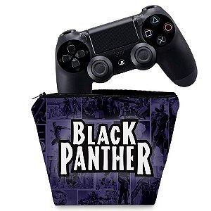 Capa PS4 Controle Case - Pantera Negra Comics