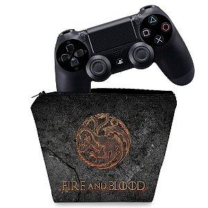 Capa PS4 Controle Case - Game Of Thrones Targaryen