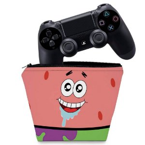 Capa PS4 Controle Case - Patrick Bob Esponja