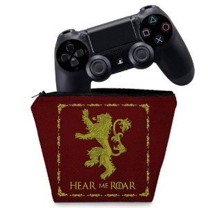 Capa PS4 Controle Case - Game Of Thrones Lannister