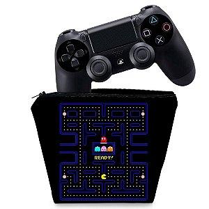 Capa PS4 Controle Case - Pac Man