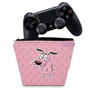 Capa PS4 Controle Case - Coragem: O cão covarde