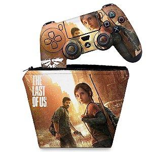 KIT Capa Case e Skin PS4 Controle  - The Last Of Us