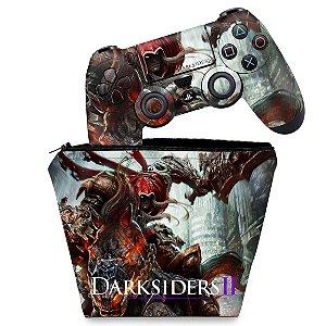 KIT Capa Case e Skin PS4 Controle  - Darksiders - Wrath Of War