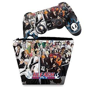 KIT Capa Case e Skin PS4 Controle  - Bleach