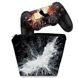 KIT Capa Case e Skin PS4 Controle  - Batman - The Dark Knight