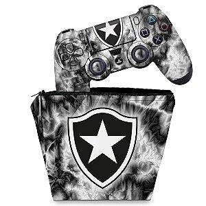 KIT Capa Case e Skin PS4 Controle  - Botafogo