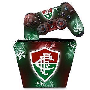 KIT Capa Case e Skin PS4 Controle  - Fluminense
