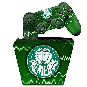 KIT Capa Case e Skin PS4 Controle  - Palmeiras