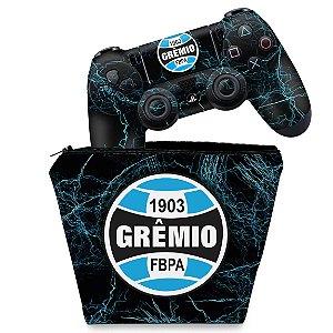KIT Capa Case e Skin PS4 Controle  - Gremio
