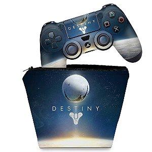 KIT Capa Case e Skin PS4 Controle  - Destiny