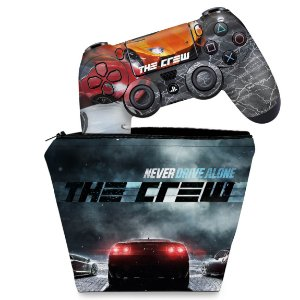 KIT Capa Case e Skin PS4 Controle  - The Crew