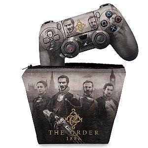 KIT Capa Case e Skin PS4 Controle  - The Order