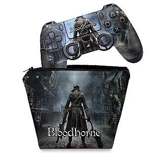 KIT Capa Case e Skin PS4 Controle  - Bloodborne