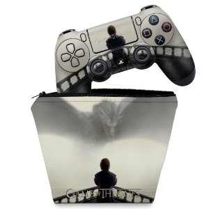 KIT Capa Case e Skin PS4 Controle  - Game Of Thrones #B