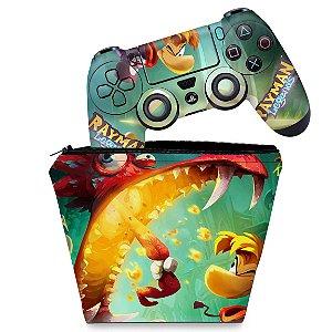 KIT Capa Case e Skin PS4 Controle  - Rayman Legends