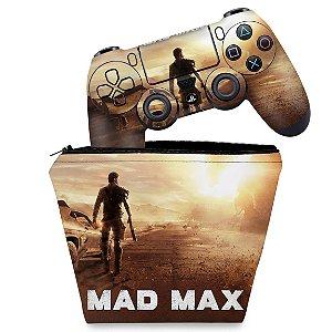 KIT Capa Case e Skin PS4 Controle  - Mad Max