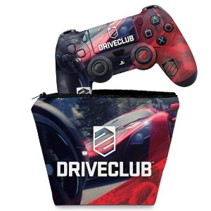 KIT Capa Case e Skin PS4 Controle  - Driveclub