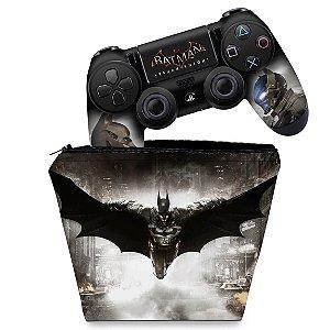 KIT Capa Case e Skin PS4 Controle  - Batman Arkham Knight