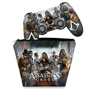 KIT Capa Case e Skin PS4 Controle  - Assassins Creed Syndicate