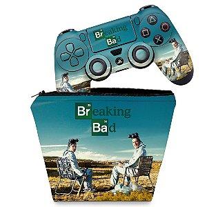 KIT Capa Case e Skin PS4 Controle  - Breaking Bad