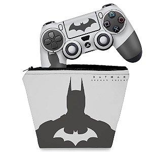 KIT Capa Case e Skin PS4 Controle  - Batman Arkham - Special Edition