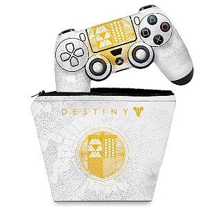 KIT Capa Case e Skin PS4 Controle  - Limited Edition Destiny