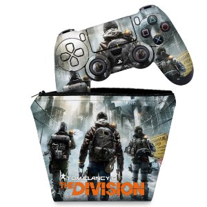 KIT Capa Case e Skin PS4 Controle  - Tom Clancy'S The Division