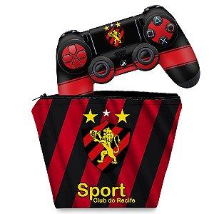 KIT Capa Case e Skin PS4 Controle  - Sport Club Do Recife
