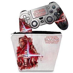 KIT Capa Case e Skin PS4 Controle  - Star Wars The Last Jedi