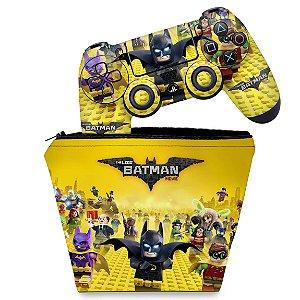KIT Capa Case e Skin PS4 Controle  - Lego Batman