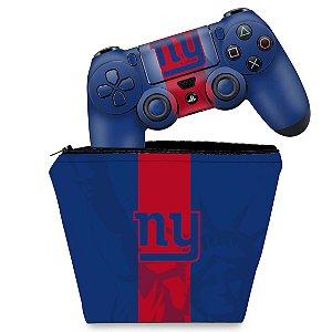 KIT Capa Case e Skin PS4 Controle  - New York Giants - Nfl
