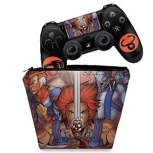 KIT Capa Case e Skin PS4 Controle  - Thundercats