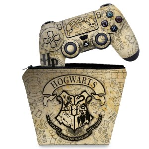 KIT Capa Case e Skin PS4 Controle  - Harry Potter