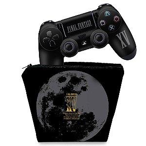 KIT Capa Case e Skin PS4 Controle  - Final Fantasy Xv Bundle