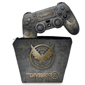 KIT Capa Case e Skin PS4 Controle  - The Division 2