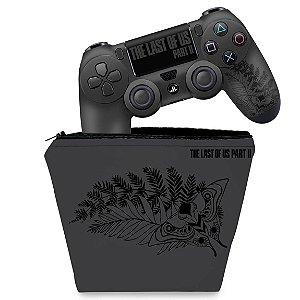 KIT Capa Case e Skin PS4 Controle  - The Last Of Us Part 2 Ii Bundle
