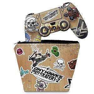 KIT Capa Case e Skin PS4 Controle  - Tony Hawk's Pro Skater
