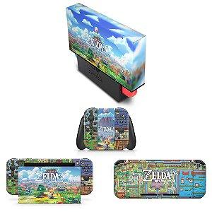 KIT Nintendo Switch Skin e Capa Anti Poeira - Zelda Link's Awakening