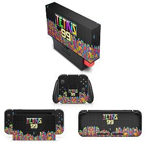 KIT Nintendo Switch Skin e Capa Anti Poeira - Tetris 99