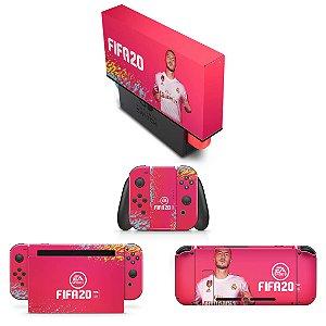 KIT Nintendo Switch Skin e Capa Anti Poeira - Fifa 20