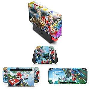 KIT Nintendo Switch Skin e Capa Anti Poeira - Mario Kart 8