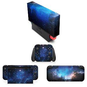 KIT Nintendo Switch Skin e Capa Anti Poeira - Universo Cosmos