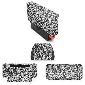 KIT Nintendo Switch Skin e Capa Anti Poeira - Camuflada Cinza
