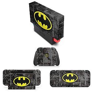 KIT Nintendo Switch Skin e Capa Anti Poeira - Batman Comics
