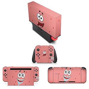 KIT Nintendo Switch Skin e Capa Anti Poeira - Patrick Bob Esponja