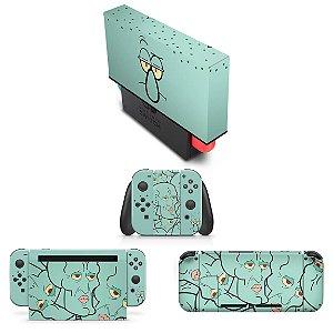 KIT Nintendo Switch Skin e Capa Anti Poeira - Lula Molusco