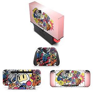 KIT Nintendo Switch Skin e Capa Anti Poeira - Bomberman