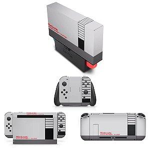 KIT Nintendo Switch Skin e Capa Anti Poeira - Nintendinho Nes